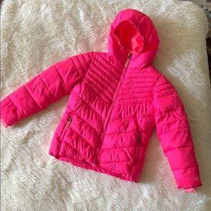 Girls' pink puffer coat Size S (6-6x)